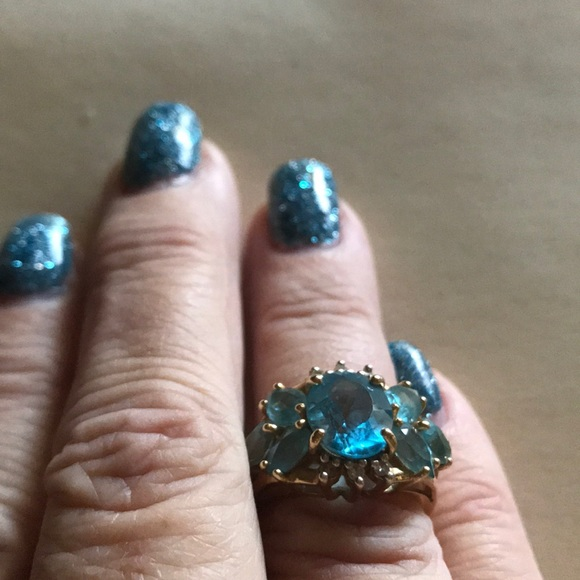 Jewelry - Blue Topaz ring from Estate.